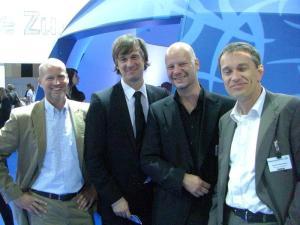 Christian Limperg (hr), Peter Häsler (hr), Andreas Hille (P&P Studios) und Stefan Nierwetberg (P&P Studios)