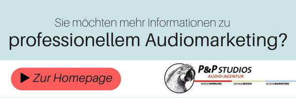 Professionelles Audiomarketing von der P&P Studios Audio-Agentur in Regensburg