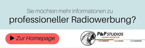 Professionelle Radiowerbung von der P&P Studios Audio-Agentur in Regensburg