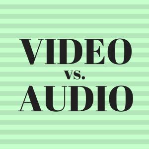 Video vs. Audio – braucht der Ton immer das Bild?